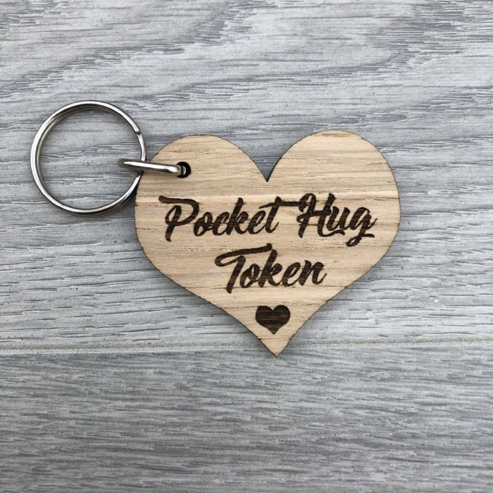 Pocket Hug  Keyring_Choice of wording